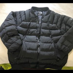 THE NORTH FACE MENS BLACK DOWN FILLED PUFFER COAT